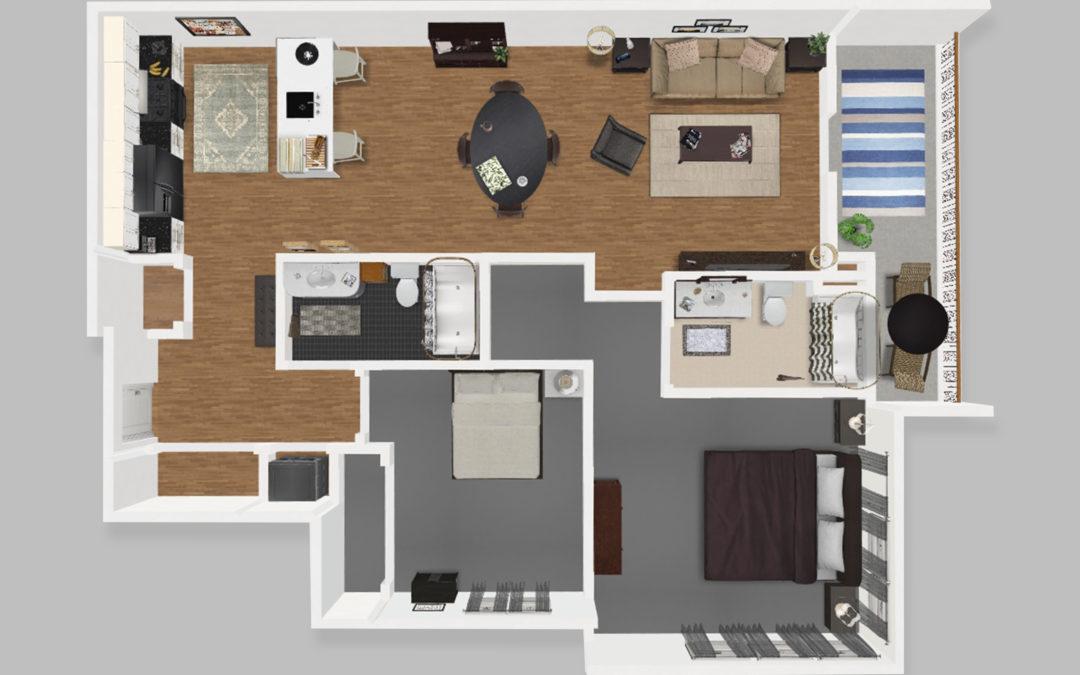 Unit C – Two Bedroom