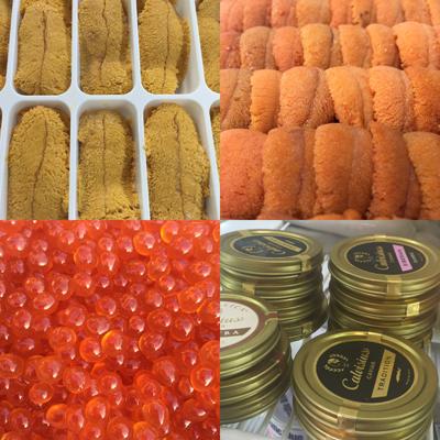 Uni, Roe, Caviar