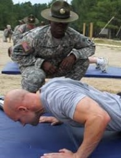 Army drill sergeant push ups