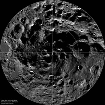 The South Pole of the moon. Credit: NASA
