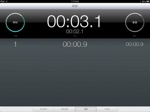 詭異的iPad碼錶