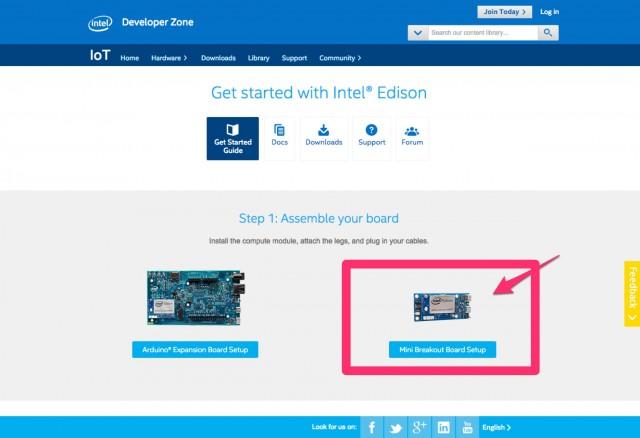 IoT - Intel® Edison Get Started Guide | Intel® Developer Zone