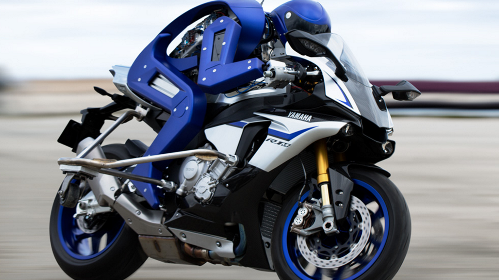 Yamaha built a motorcycle-driving robot challenging world champion Valentino Rossi
