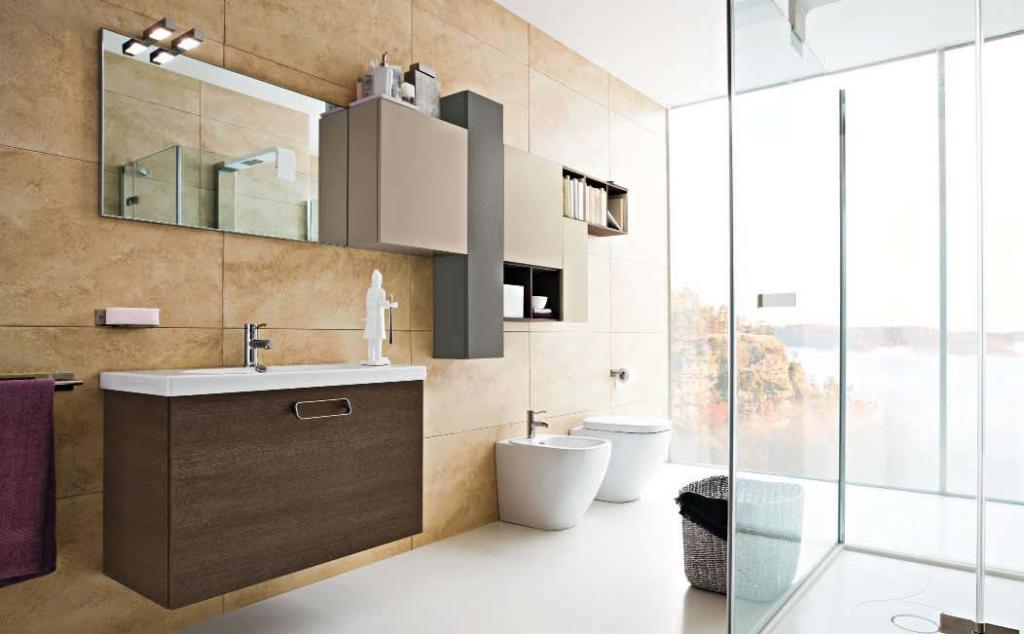 Modern-bathroom-design-brown