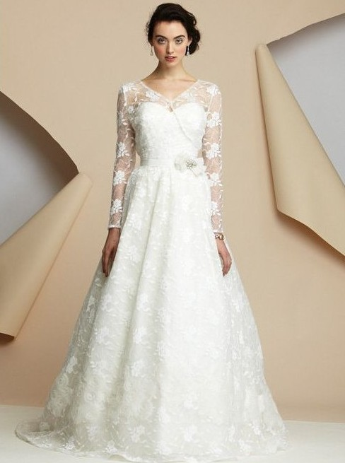 lace-sweetheart-neckline-a-line-wedding-dress-with-lace-long-sleeves-jacket