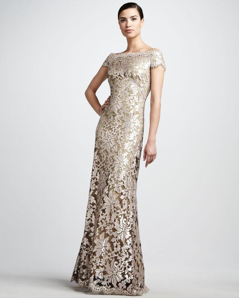 modern evening gown
