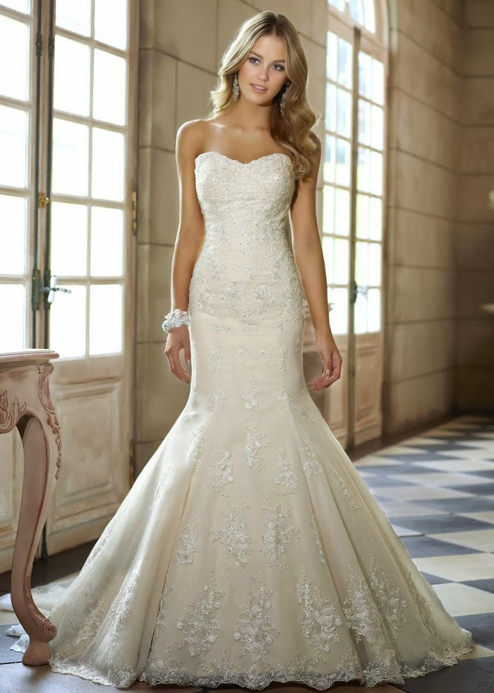 strapless-lace-wedding-dresses