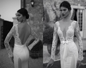 Backless Wedding Dresses With Sleeves
