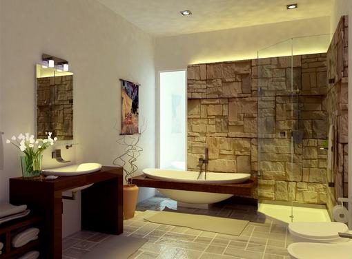 Asian-Bathroom-Designs-with-Modern-Decoration