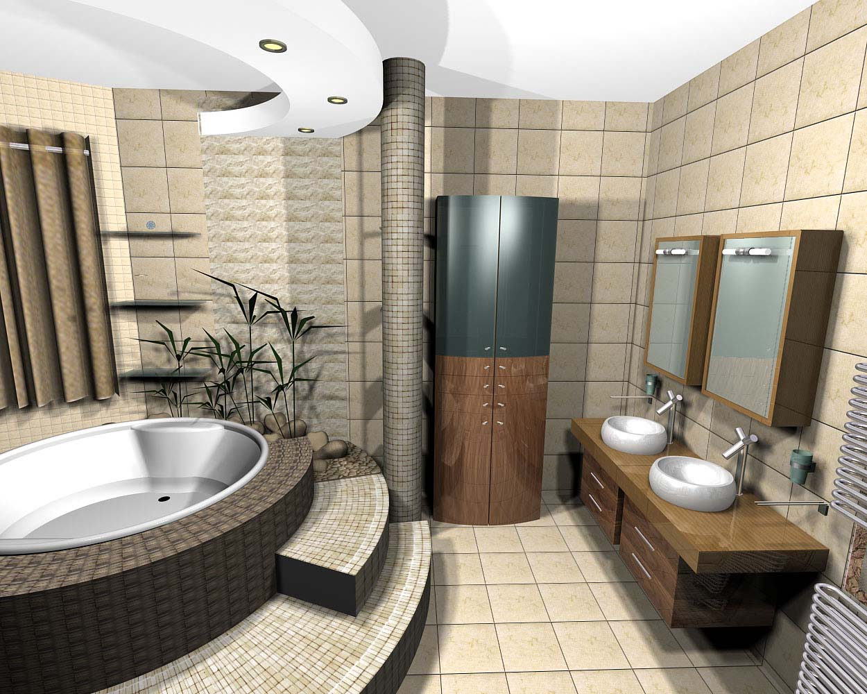 Good-Interior-Design-and-Room-with-bath-and-also-with-the-counter-for-the-sink-and-mirror-Bathroom-Design-Ideas-Furniture