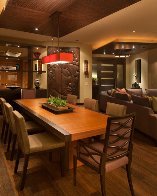 Nice-Contemporary-Asian-Dining-Room-Inspired-Theme-Wall-Decor