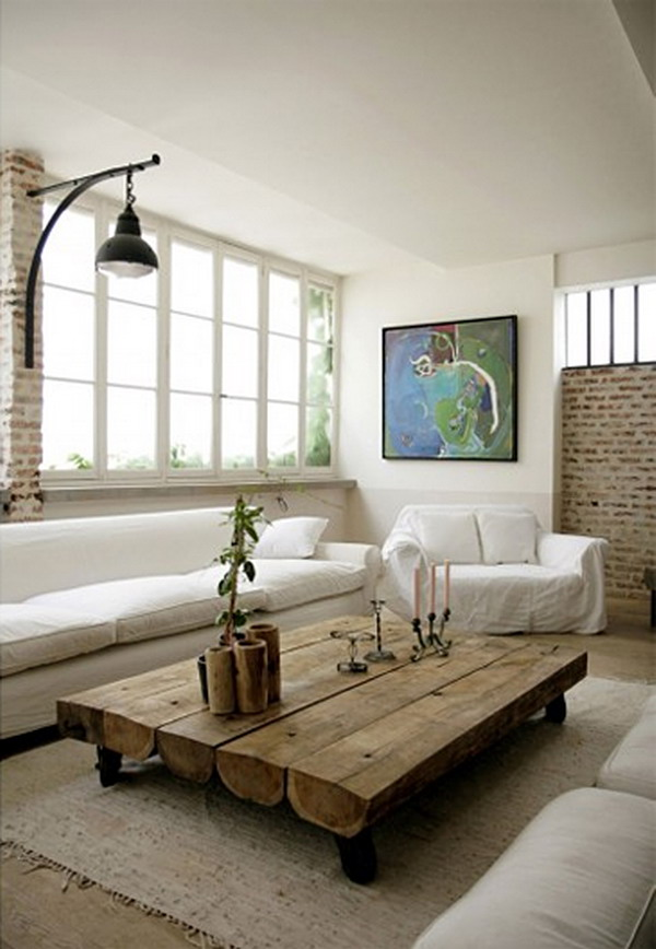 Nice-Small-Picture-Wall-Murals-in-Industrial-Living-Room