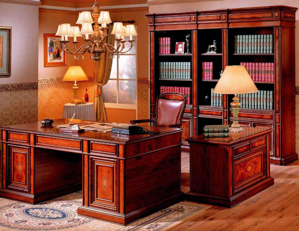 Stunning-traditional-home-office-design-ideas-with-bookcase-and-luxury-lamps