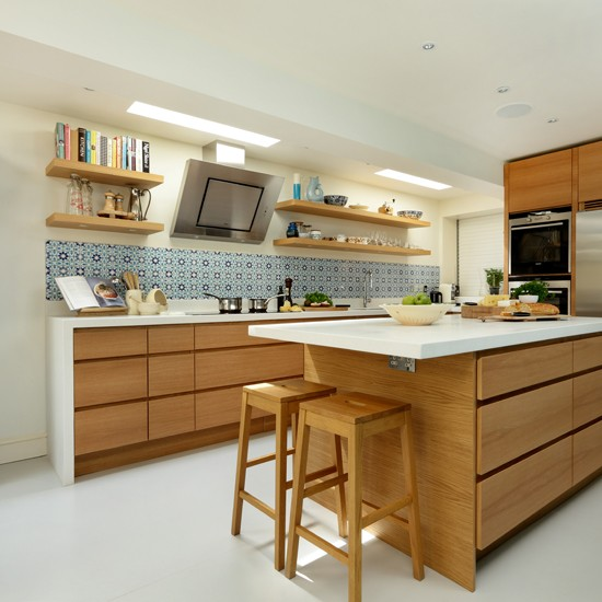 Wood-and-White-worktop-Kitchen-Beautiful