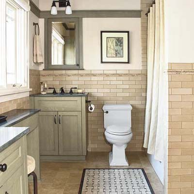 bathroom remodel in a Craftsman style