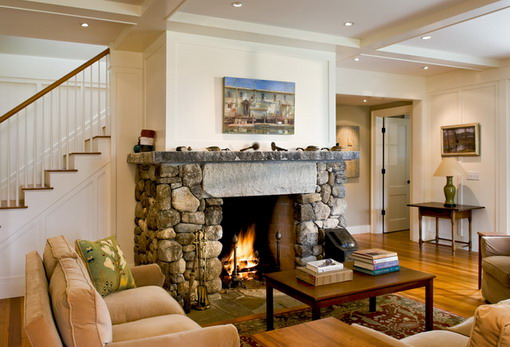 Classic-Brick-Fireplace-in-Farmhouse-Living-Room