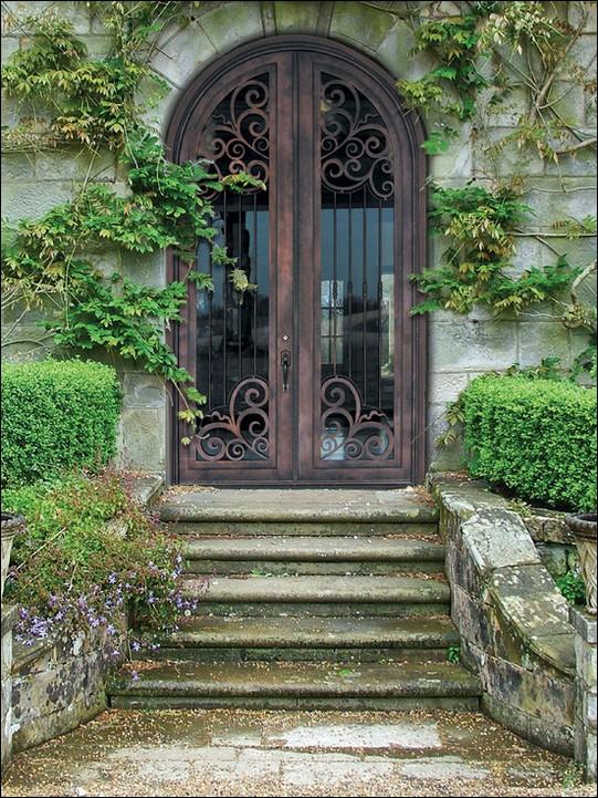 French-Doors-mediterranean-entry