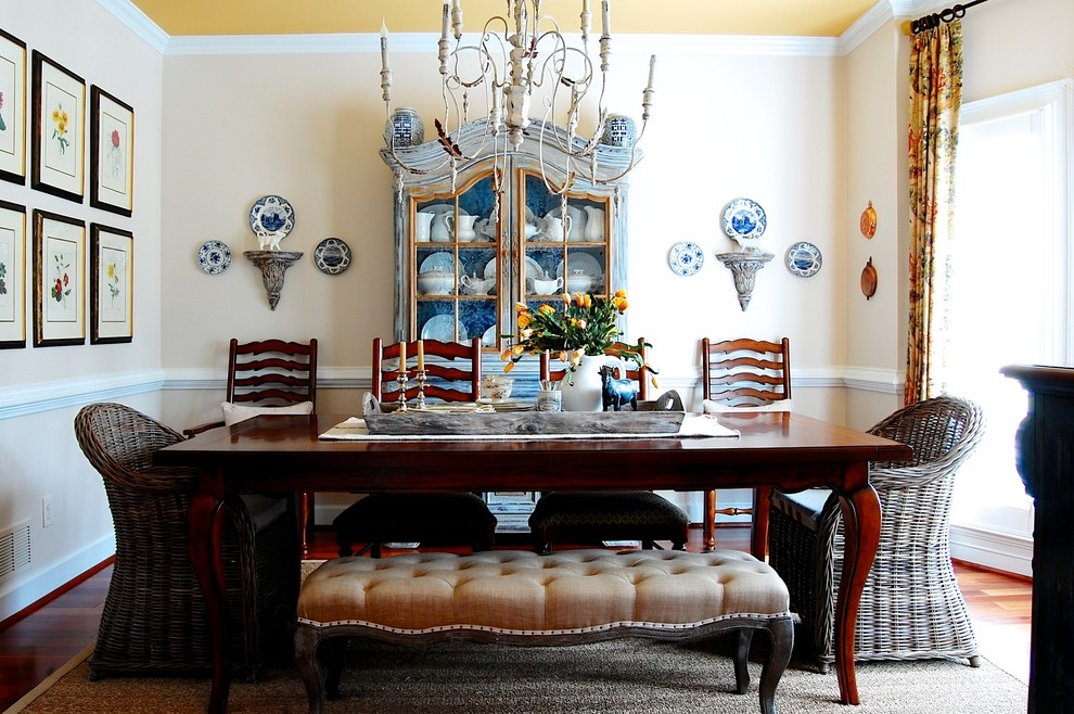 Incredible-Wicker-Bench-Seat-Decorating-Ideas-Gallery-in-Dining-Room-Farmhouse-design-ideas- (1)