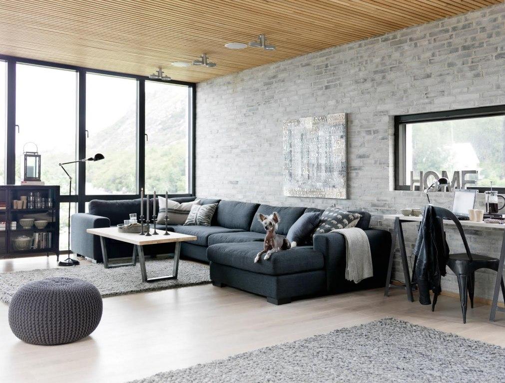 Industrial interior design living room