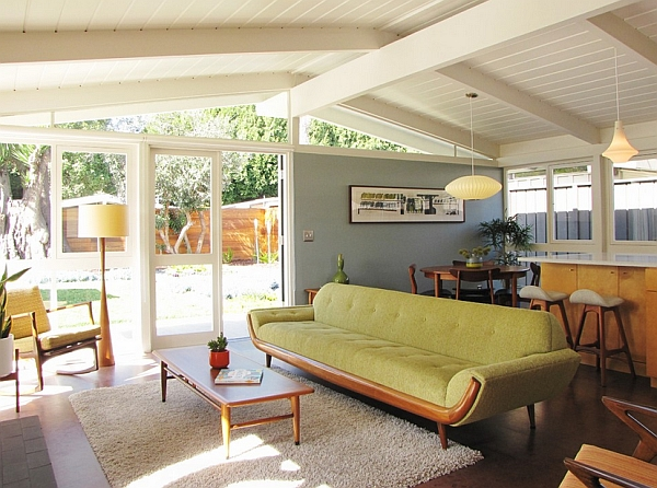 -Midcentury-style living room