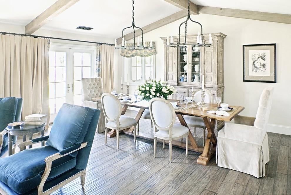 Ravishing-Stainless-Steel-Table-house-designs-Farmhouse-Dining-Room-Phoenix