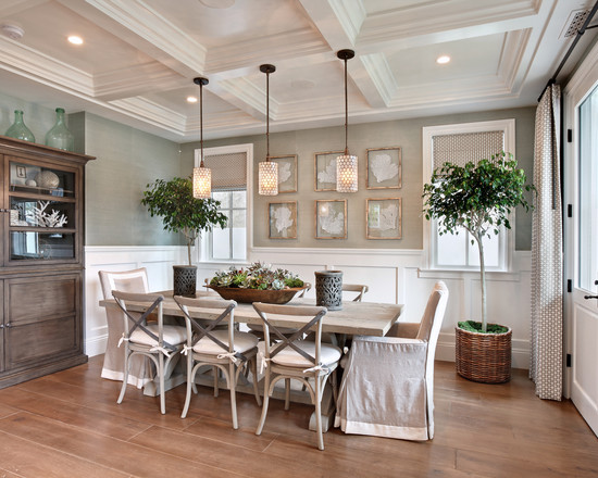 Remarkable-oil-cloth-jackets-beach-style-dining-room-splendid-diner-table-patterned-flooring-pendant-lamp-display-cabinet-jug-plant