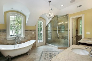 Transitional master bath design style_full