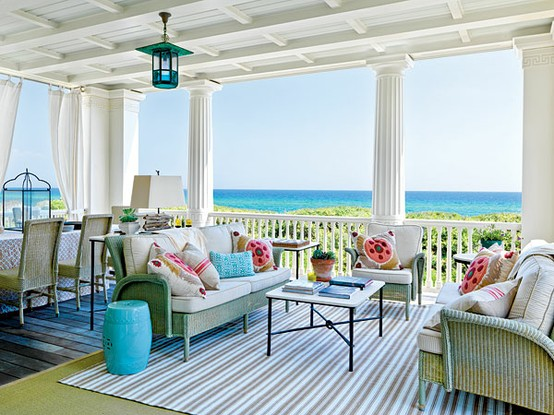 Vibrant Blue and Green Cottage Decor