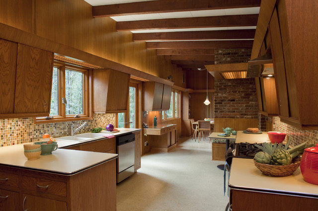 awesome-mid-century-modern-kitchen-design-with-contemporary-eclectic-modern-traditional