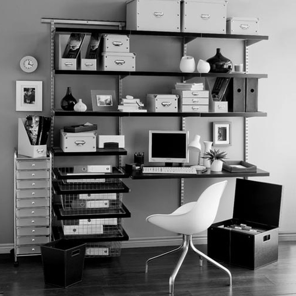 contemporary-furniture-home-office-design-Nice-Home-Office-Decor-Black-White-Endearing-home-office-desk-cabinets-Industrial-Style