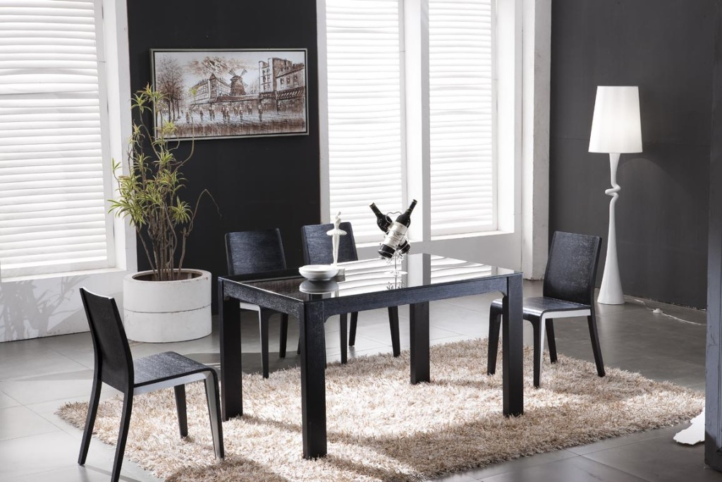 dark-brown-small-glass-top-dining-table