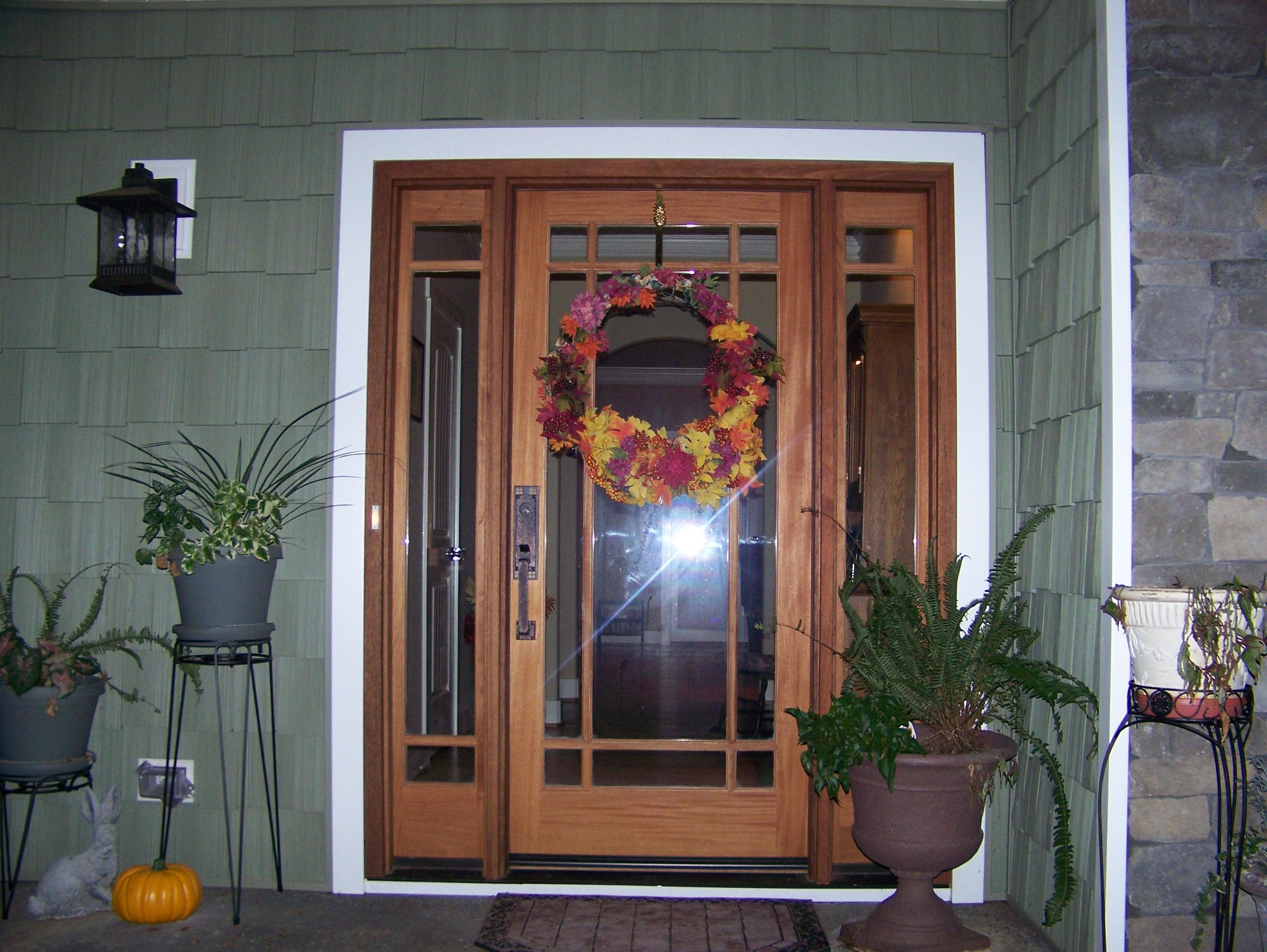 decoration-stunning-front-entry-door-ideas-with-brown-wooden-door-within-inspiration-picturs-of-front-door-design-ideas