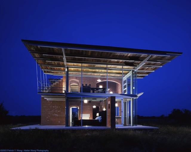 industrial-exterior-portfolio-exterior-lighting-home-contemporary-design-austin-texas-landscape-balcony-brick-wall-ceiling