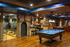 15 Outstanding Rustic Basement Designs