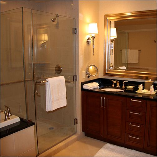 transitional bathroom designs+