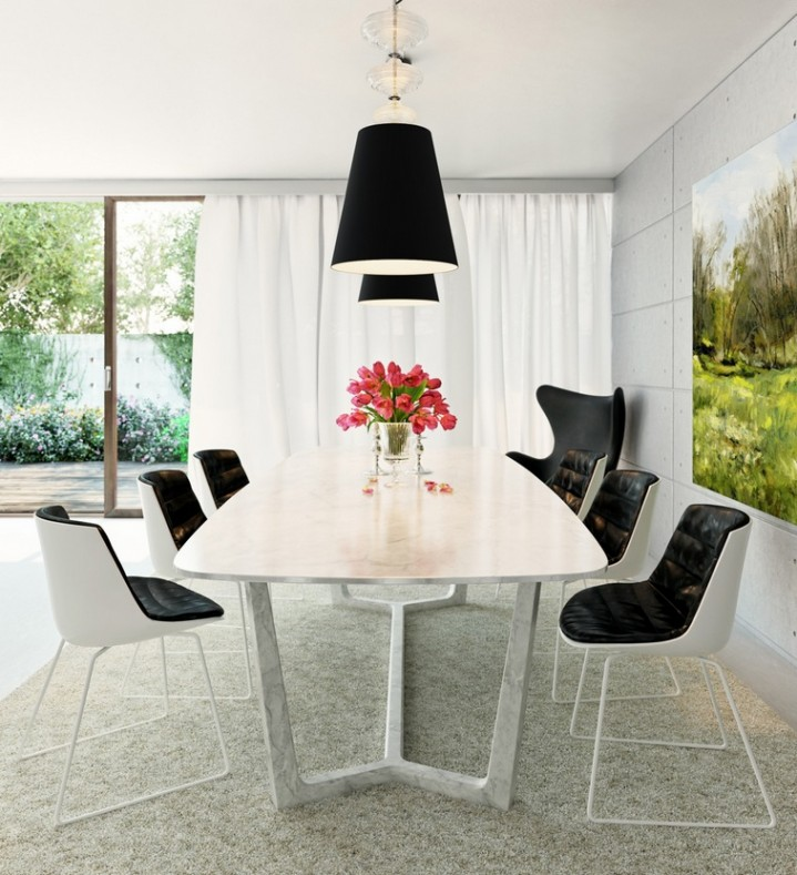 black-white-monochrome-dining-room-inspiration