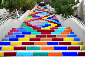 20 Awesome Colorful Stairs Design Ideas