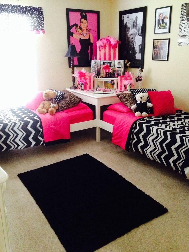 teen-twin-girls-bed-room-ideas-