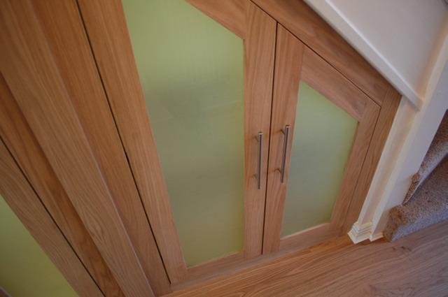 understair cubboards made by oak