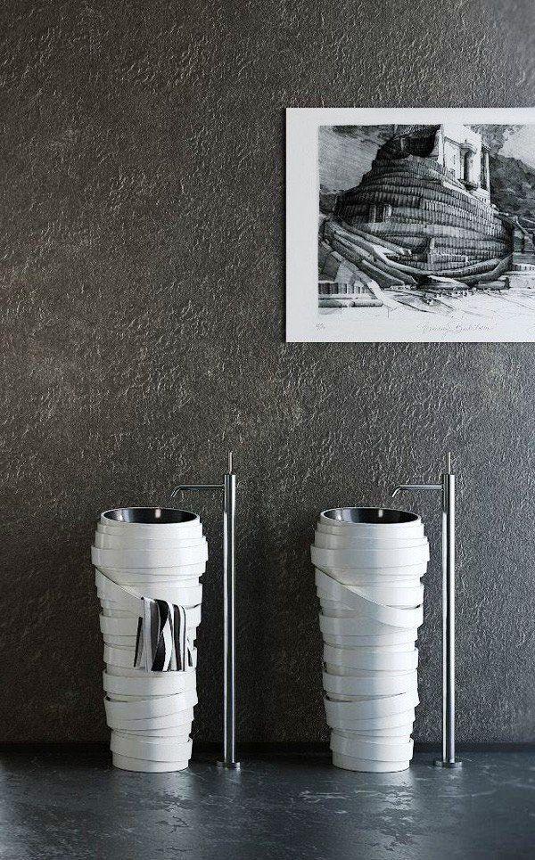 creative sink made to imress