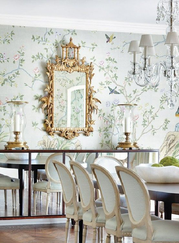 elegant dining room wallpaper