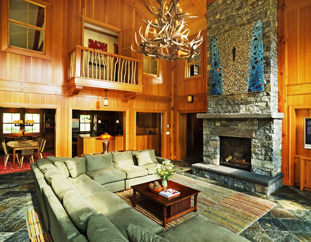 large-sectional-sofas-Living-Room-Eclectic-with-antler-chandelier-balcony-