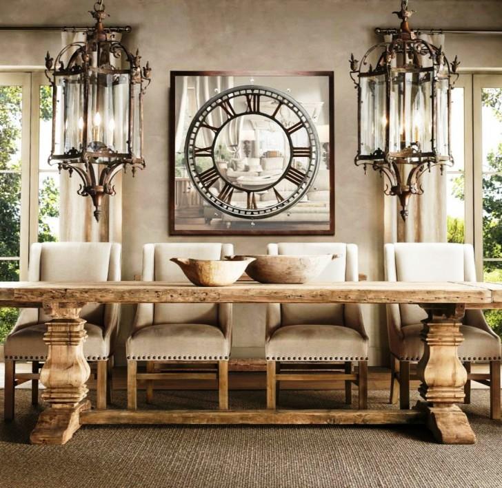 wood-trestle-table-luxury-dining-room-