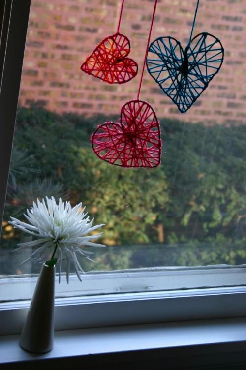 DIY Yarn Hearts