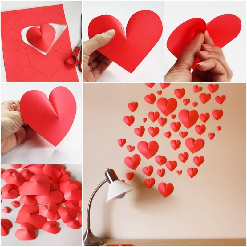 Paper Hearts Wall Decor