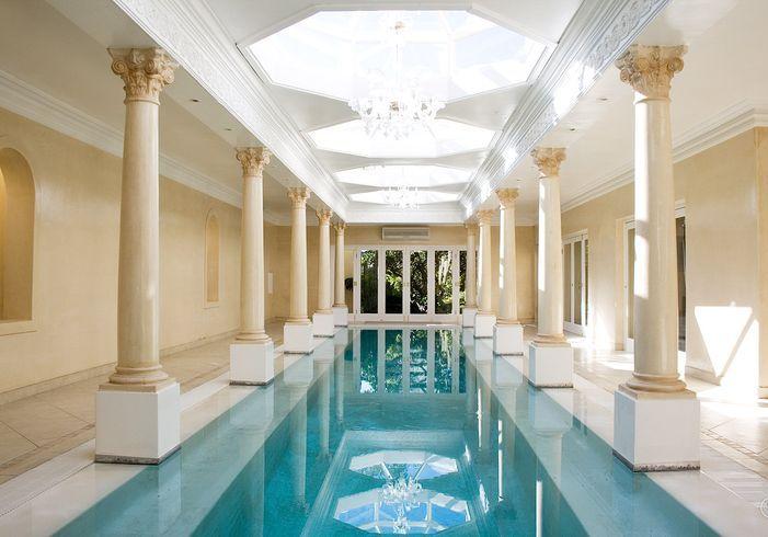 Deluxe Indoor Pool Decorating Idea