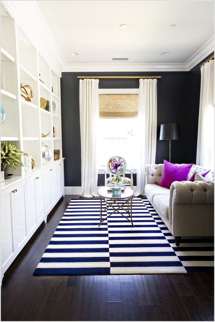 monochrome-with-color-small-living-room-design