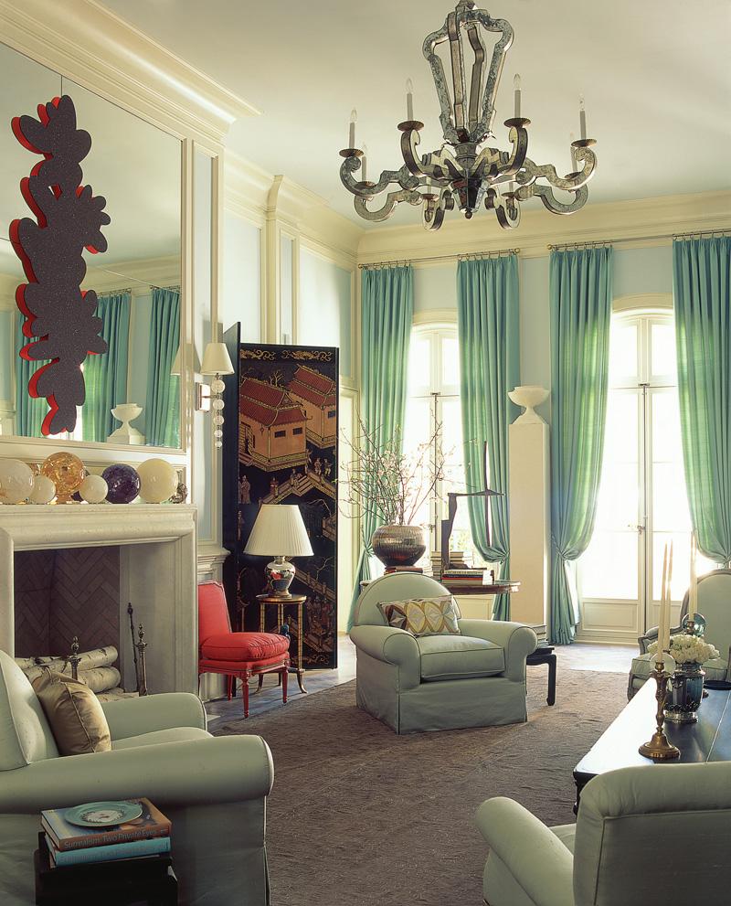 Green Living Room Decor