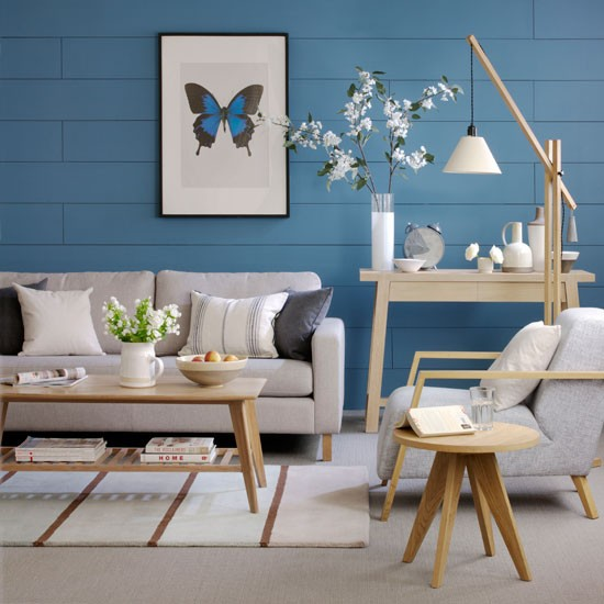 Cool blue living room