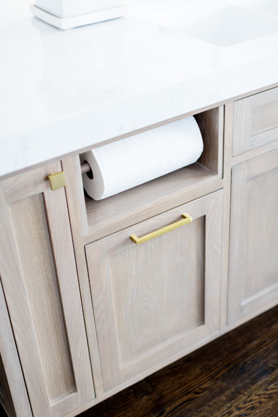 All White Kitchen Cabinet With Golden Accesories1